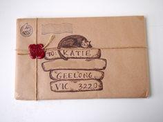 Sleepy cat snail-mail