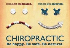 Medication vs Adjustments -Old Bridge Spine and Wellness www.oldbridgespine.com