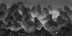 The Silent City: Digitally Assembled Futuristic Megalopolises by Yang Yongliang Moonlight_Sleepless_Wonderland