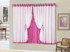 Cortina para Quarto Pink A Criativa - Romântica 2,00x1,70m com as melhores condições você encontra no Magazine Ubiratancosta. Confira!