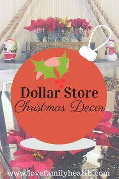 Dollar Store Christmas Decor! #thrifty