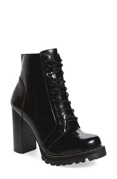 Free shipping and returns on Jeffrey Campbell 'Legion' High Heel Boot (Women) at Nordstrom.com. This boot means business. The sky-high lacing system, towering chunky heel and no-nonsense lug sole deliver a downtown disposition with an uptown state of mind. Lace it up the front for a custom fit and then zip it on and go.