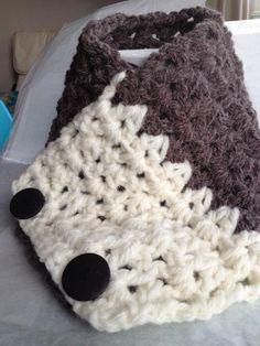 Crochet Coffee and cream cowl