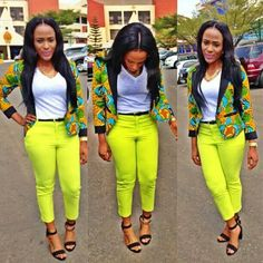 Love the whole but the Ankara jacket is banging Latest African Fashion, African Prints, African fashion styles, African clothing, Nigerian style, Ghanaian fashion, African women dresses, African Bags, African shoes, Nigerian fashion, Ankara, Aso okè, Kenté, brocade etc DK