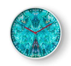 Chrysocolla Clock by lightningseeds® for crystalapertures.rocks.