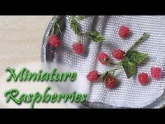 Miniature Raspberries - Raspberry Polymer Clay Tutorial - YouTube
