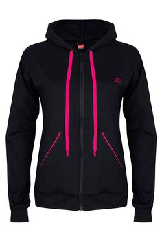 Squat - Sportjack met capuchon in Zwart Squats, Hooded Jacket, Sportswear, Athletic, Hoodies, Diva, Sweaters, Jackets, Fashion