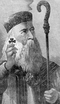 IRISH SAINT PATRICK--    His real name was probably Maewyn Succat. Though Patricius was his Romanicized name, he was later came to be familiar as Patrick.    Legend credits St. Patrick with teaching the Irish about the doctrine of the Holy Trinity by showing people the shamrock using it to illustrate the Christian teaching of three persons in one God. For this reason, shamrocks are a central symbol for St Patrick's Day.