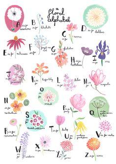 A Floral Alphabet by Emma Block