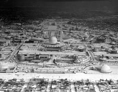 The World's Fair isn't exactly bustling after a frozen day left the spectacle completely covered in white powder during the winter of 1939.