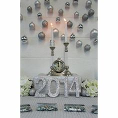 New Year's Eve Centerpiece and Backdrop