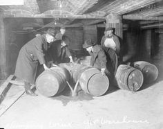 Disposing of Alcohol During Prohibition, 1930s