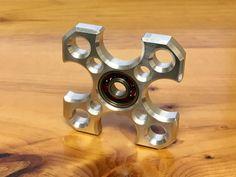 Machined Aluminum Fidget Hand Spinner от TruBluMFG на Etsy