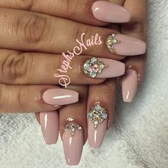 """@glamandglitsnails """"Porcelain Pearl"""" love this pink! These were my glitter bottoms in a ..."""