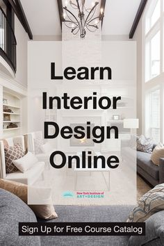 Learn interior design and interior decorating. NYIAD's interior design course allows you to learn at home. Interior Design Degree, Interior Design Courses Online, Interior Design Classes, Home Interior Design, Interior Design Quotes, Interior Design Programs, Luxury Interior, Decorating Tips, Interior Decorating