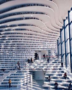 Tianjin Binhai Library by MVRDV (i.it) submitted by PM_ME_BOOBPIX to /r/ArchitecturePorn 0 comments original - Architecture and Home Decor - Buildings - Bedrooms - Bathrooms - Kitchen And Living Room Interior Design Decorating Ideas - Tianjin, Beautiful Architecture, Interior Architecture, Interior Design, Ikea Interior, Beautiful Library, Places To Go, Beautiful Places, Wonderful Places