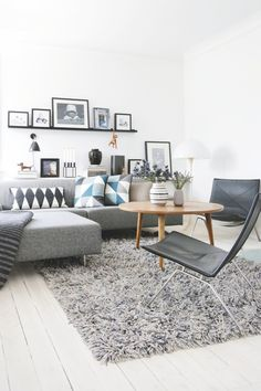 modern Scandinavian living room. grey.