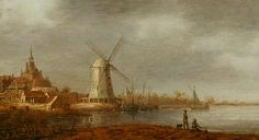 Aelbert Cuyp, River scene with a view of Dordrecht and a windmill.  Home, Land and Sea Art in the Netherlands 1600-1800 is a new exhibition which brings together over 50 paintings from Manchester City Galleries' exceptional 17th and 18th century Dutch and Flemish collection, one of the most important in the country. Friday 24 May 2013 - Friday 29 May 2015 Manchester Art Gallery