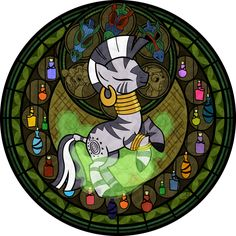 Stained Glass: Zecora by *Akili-Amethyst on deviantART
