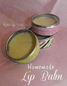 Homemade Lip Balm in tins from Pick Your Plum