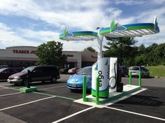 NRG eVgo Installs Nation's First All-EV Supercharger Station in San Diego (charging station) Electric Charging Stations, Car Charging Stations, Ev Charger, Electric Car Charger, Electric Vehicle, Electric Cars, Colorado Springs, Atmospheric Water Generator, Solar Energy Facts