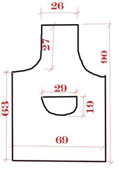 Dimensions of apron
