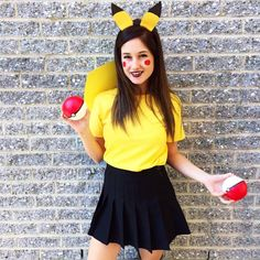 Emma Verde ♥ very beautiful our Emma in the costume of pokémon - Kostümideen - Pikachu Halloween Costume, Pokemon Costumes, Couple Halloween Costumes, Diy Halloween Costumes, Halloween Party, Halloween 2019, Costume Ideas, Emma Verde, Dream Closets