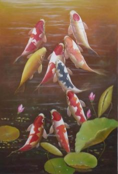 Photos of 9 fish (8 red or gold, 1 black) or an aquarium of same is said to bring good fortune.  The black fish is there to absorb any negative energy so good fortune can thrive.  An excellent photo to place in the Wealth/Prosperity section of your home or office!