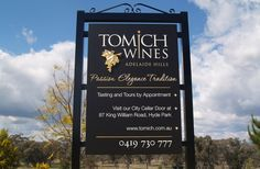 Tomich Winery Sign 35x51 $1700