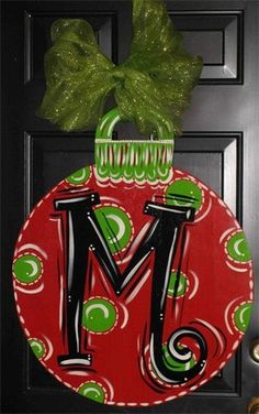 Christmas Ornament Door Decor..option instead of a wreath