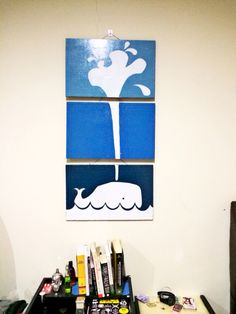 Whale on the wall. #DIY