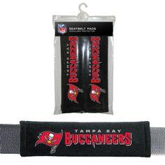 NFL Tampa Bay Buccaneers Seat Belt Pad 2 Pack