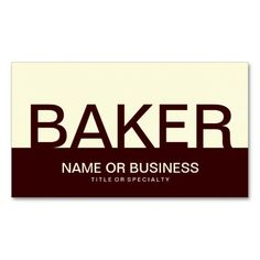 >>>Hello          bold BAKER (color customizable) Business Cards           bold BAKER (color customizable) Business Cards in each seller & make purchase online for cheap. Choose the best price and best promotion as you thing Secure Checkout you can trust Buy bestHow to          bold BAKER (...Cleck Hot Deals >>> http://www.zazzle.com/bold_baker_color_customizable_business_cards-240266818790750599?rf=238627982471231924&zbar=1&tc=terrest