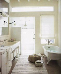 White Country Bathroom