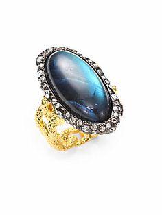 Alexis Bittar Labradorite Cabochon Ring  #MillionDollarShoppersHeather