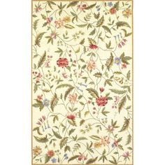 Found it at Wayfair - Colonial Ivory Floral Area Rug