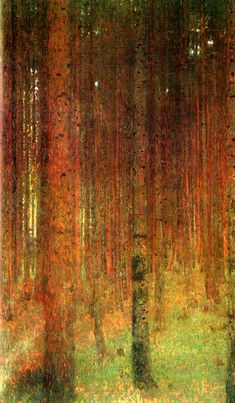 Gustav Klimt - Tannenwald II (Pine Forest II)