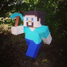 Minecraft Steve pinata!                                                                                                                                                      More