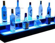 LED Lighted Bar Shelving for Home Bars & Restaurants de BarShelves Bar Shelves, Glass Shelves, Display Shelves, Liquor Shelves, Shelf, Shelving, Lighting System, Bar Lighting, Deco Led