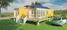 Container House concept living with 3D kitchen design