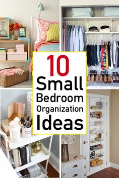 Looking for ways to organize your small bedroom? Check out these 10 smart and savvy small bedroom organization ideas that make a huge impact. the home 10 Genius Small Bedroom Organization Ideas Small Bedroom Organization, Home Organization Hacks, Organizing Your Home, Organizing Small Bedrooms, Clutter Organization, Ways To Organize Your Room, Small Bedroom Hacks, Small Apartment Hacks, Organized Bedroom