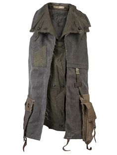 You'll find a great selection of men's designer vests at Farfetch. Post Apocalyptic Clothing, Post Apocalyptic Costume, Post Apocalyptic Fashion, Military Vest, Military Fashion, Mens Fashion, Fashion Outfits, Gothic Fashion, Mens Designer Vests