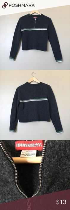 {Unionbay} Charcoal Lambswool Sweater Ultrasoft and cozy crew neck sweater in charcoal gray. No visible flaws and in great condition. 100% lambswool. UNIONBAY Sweaters Crew & Scoop Necks