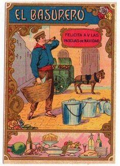 Antiguas felicitaciones navideñas - Profesiones y oficios. Vintage Advertisements, Vintage Ads, Vintage Images, Poster S, Time Photo, Vintage Travel Posters, Animal Crossing, Vintage Christmas, Nostalgia
