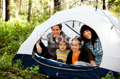 Camping Family Royalty Free Stock Photo