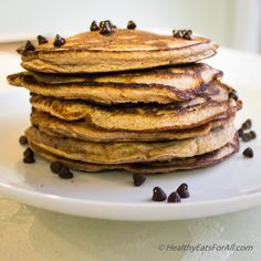 Try some soft, fluffy delicious chocolate chip protein pancakes for breakfast. They are low carb and low sugar.