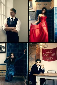 Merlin Cast Photo: Bradley James, Angel Coulby, Katie McGrath, Colin Morgan