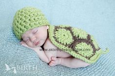 Newborn Turtle Photography Prop Set, Newborn Halloween Costume, Baby Turtle Hat and Shell, Quality Construction