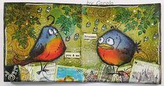 Hallo liebe Blogleser! Diese Vögel mussten natürlich auch im Pixibuch verewigt werden. Da die aktuelle Challenge bei Art-Journal-Jour...