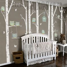 The Owl Nursery Wall Vinyl Forest - StickyThings.co.za